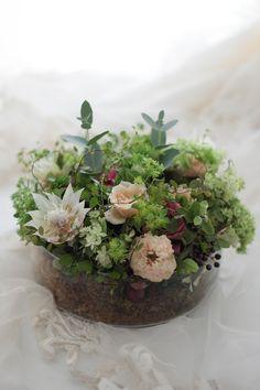 新郎新婦様からのメール 2シェアブーケ ラビュットボワゼ様へ 鏡のウェルカムボード : 一会 ウエディングの花