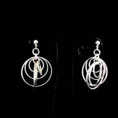 RJ Graziano 14K White Gold GP Dangle Earrings For  Mother's Day Special gift #RJGraziano #DropDangle