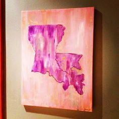 Louisiana painting. Follow amazinggrace_designs on Instagram for more paintings.