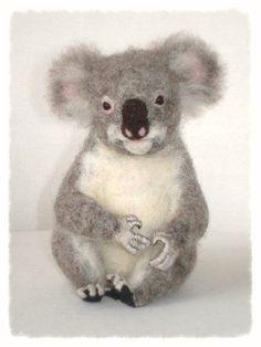 Ooak Needle Felted Koala