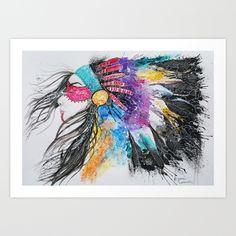 Headdress Art Print by Jonna Lamminaho - $17.68