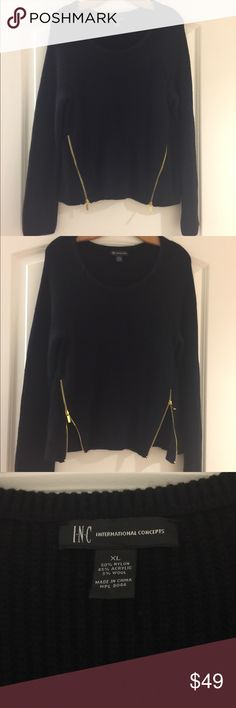 INC Sweater with zipper on both sides INC Sweater with zipper on both sides. Brand new with tags. INC Sweaters