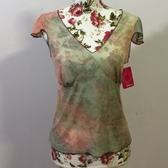Xhilaration Tye Dyed Sheet Top- Lge. NWT Adorable cap sleeved Semi- sheer with back tye! Brand new Xhilaration Tops
