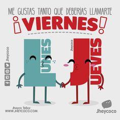 Y quién es tu viernes? Etiquetalo #jheycoco #humor #cute #ilustracion #kawai #tierno #kawaii #amor #pulsera #humorgrafico #descripciongrafica #diseñocolombiano #madecolombia #funny #funnyilustration #literal #literalidad #instagram #frases #music #musica #chanchito #pig #marranito #sticker #calcomanias #mug