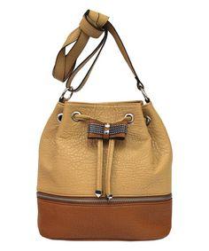 Look what I found on #zulily! Camel & Safari Evonne Bucket Bag #zulilyfinds