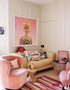 Guide To Discount Bedroom Furniture. Bedroom furnishings encompasses providing products such as chest of drawers, daybeds, fashion jewelry chests, headboards, highboys and night stands. Barbie Bedroom, Girls Bedroom, Living Room Decor, Bedroom Decor, Pop Art Bedroom, Discount Bedroom Furniture, Deco Retro, Glam Room, Barbie Dream House