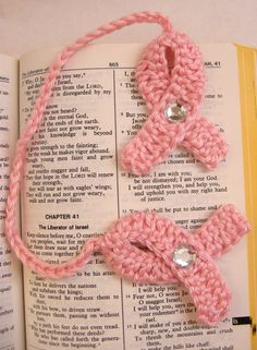 Hope Breast Cancer Awareness Pink Ribbon by SimplyPoshCrochet, $5.00