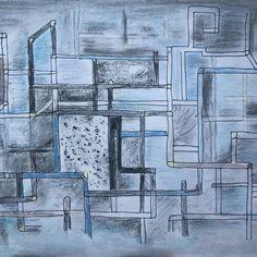 Space🌌 #pastels #drawing #creative #art #instaart #art #blue #creativelife #universe Creative Diary, Space Drawings, Insta Art, Pastels, Universe, Abstract, Artwork, Blue, Work Of Art