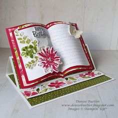 Denise Buetler: Social Stamping - Birthdays In Isolation Card Book, Up Book, Fancy Fold Cards, Folded Cards, Card Making Tutorials, Making Ideas, Easel Cards, 3d Cards, Beautiful Handmade Cards