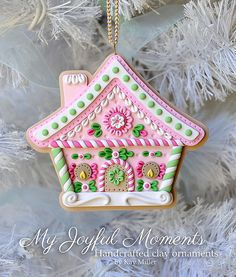 Handcrafted Polymer Clay Gingerbread House por MyJoyfulMoments
