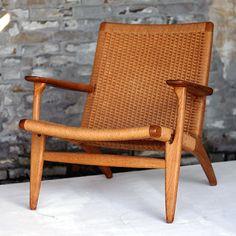 Hans J Wegner woven rattan chair