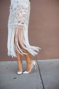 Sassy and chic fringe rehearsal dinner dress