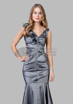 Evening Dresses 2014-Mermaid V-neck Floor-Length Evening Dresses 2012