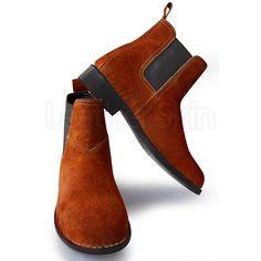 Men Chelsea Boots Brown Shoes