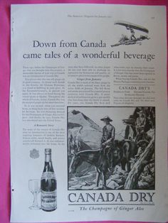 This is an original color print advertisement for Canada Dry Ginger Ale published in the January 1931 issue of The American Magazine. It