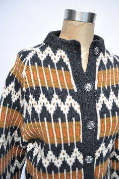 vintage sweater norway ethnic pattern print by goodbyeheartwoman