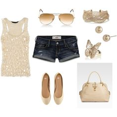 Dressy summer outfit, created by #mrsc6411 on #polyvore. #fashion #style Hollister Co. H&M