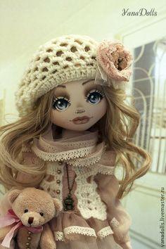 Элина - кремовый,кукла ручной работы,кукла,кукла в подарок,кукла текстильная
