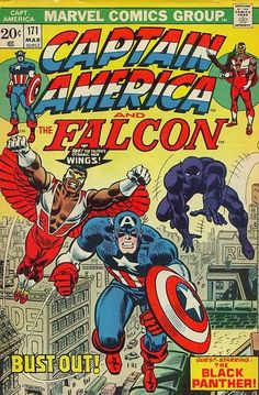 Captain America and the Falcon #171. Guest starring the Black Panther. Cover by John Romita Sr.