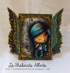 """The greeting farm stamp coloured by Alberto Gava """"Lo Shakerato Alberto"""""""