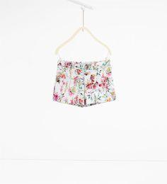 Floral Bermuda shorts-SKIRTS AND SHORTS-GIRL | 4-14 years-KIDS | ZARA Canada