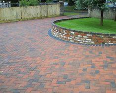 Done July 2015 Block Paving Driveway, Brick Paving, Driveway Ideas, Driveway Design, Driveway Landscaping, Patio Design, Building Raised Garden Beds, Garage, Brick Garden