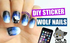 "DIY nail art stickers using a sandwich bag! This time, instead of printing out a template, I used my phone instead :) *****If you see this, comment: ""TEEN WO..."