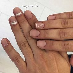 Have you heard of the idea of minimalist nail art designs? These nail designs are simple and beautiful. You need to make an art on your finger, whether it& simple or fancy nail art, it looks good. Of course, you may have seen many simple and beaut Nail Manicure, Pedicure, Nail Polish, Matte Nails, Pink Nails, Matte Pink, Nude Nails, Hair And Nails, My Nails