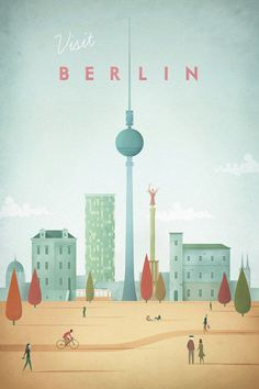 nice Vintage travel poster of Berlin, Germany. An original illustration for Travel Po... by http://brosplaces2travel.gdn/index.php/2017/02/01/vintage-travel-poster-of-berlin-germany-an-original-illustration-for-travel-po/