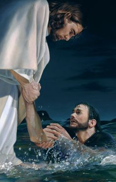 picture of jesus christ with his hand reaching into the water to save peter reaching through the water the hand of god painting Jesus Artwork, Love Scriptures, Religion, Pictures Of Jesus Christ, Jesus Painting, God Jesus, Christian Art, Christianity, Eye Quotes