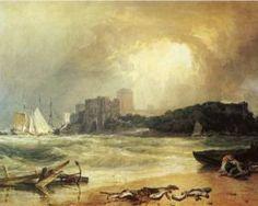 Pembroke Caselt, Galles du Sud, Thunder Storm approche - William Turner-1801