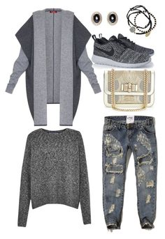 """Untitled #2617"" by abbyolson on Polyvore featuring Abercrombie & Fitch, MaxMara, French Connection, NIKE, Christian Louboutin, Feather & Stone and Givenchy"