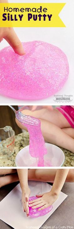 Are you looking for a fun arts and craft idea to do with your kids? You will love this easy recipe on how to make your own homemade silly putty! On the last trip to the grocery store, I stopped by the kids art supply section and stumbled across this pink glitter glue (they had …