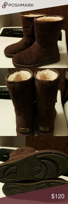 Ugg Pierce Chocolate brown Ugg boots worn twice. Still brand new and in great shape.  Comes with box they came not pictured. UGG Shoes Ankle Boots & Booties
