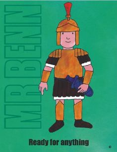 nice S2705 READY FOR ANYTHING MR BENN 1970'S 1980'S CARTOON TV SHOW METAL WALL ADVERTISING SIGN PLAQUE