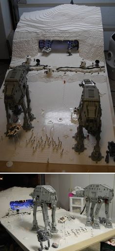 Star Wars LEGO!!! 4 years, 60,000 pieces and three thousand dollars later.