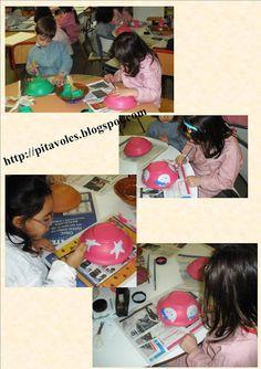 pitavoles: Plats d'escudella pintats per nens de 4 - 6 anys
