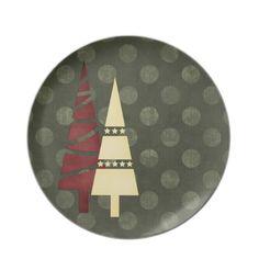 Christmas 1 : Trees Big Dots Green Dinner Plate