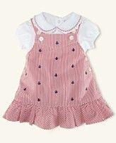 Ralph Lauren Baby Set, Baby Girls Bodysuit and Seersucker Jumper