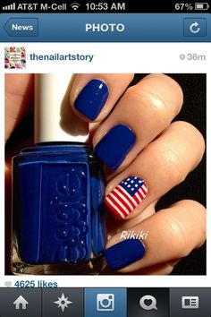 July 4th nails!!