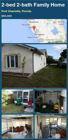 2-bed 2-bath Family Home in Port Charlotte, Florida ►$65,000 #PropertyForSale #RealEstate #Florida http://florida-magic.com/properties/79904-family-home-for-sale-in-port-charlotte-florida-with-2-bedroom-2-bathroom