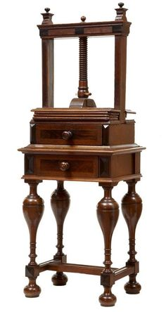 EARLY 18TH CENTURY DUTCH OAK BOOK PRESS #DutchFlemish #Stands (Actually a linen press, commonly mistaken for a book press ~ SR Gatke)