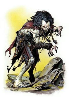Wight- European folklore: a human with only half it's soul. To make up for this condidtion, it drains the life of others.
