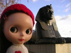 Sphinx at Cleopatra's Needle, Embankment - London - December 2007
