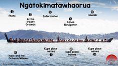 TOUCH this image: Ngātokimatawhaorua and Kupe by Michele Coxhead
