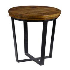 Kosas Kinda Reclaimed Wood Round End Table $355