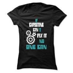 (Tshirt Perfect TShirt) CHRISTINE Mechanic 999 Cool Name Shirt Discount Best Hoodies Tees Shirts