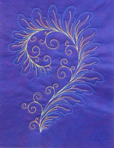 Asymmetrical feather quilting by Patsy Thompson Designs