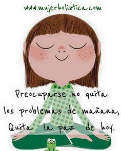 No dejes que problemas te roben la paz. El preocuparte no los resuelve.  Respira y continua   Feliz Domingo! #paz #domingo #bienestar #mujerholistica by mujerholistica