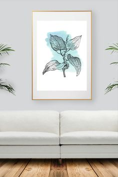 Colorful Wall Art, All Print, Decoration, Watercolor Art, Wall Art Prints, Wall Decor, Handmade Gifts, Nature, Blue
